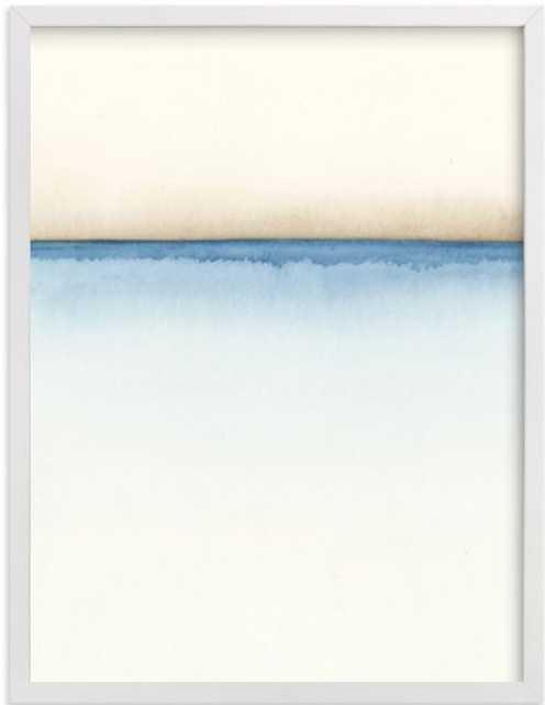 "Playa One, 18"" X 24"" in White Wood Frame - Minted"