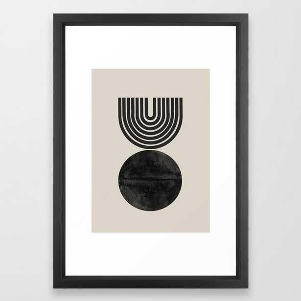 "Woodblock Print, Modern Art Framed Art Print- Vector Black Frame - 15"" x 21"" - Society6"