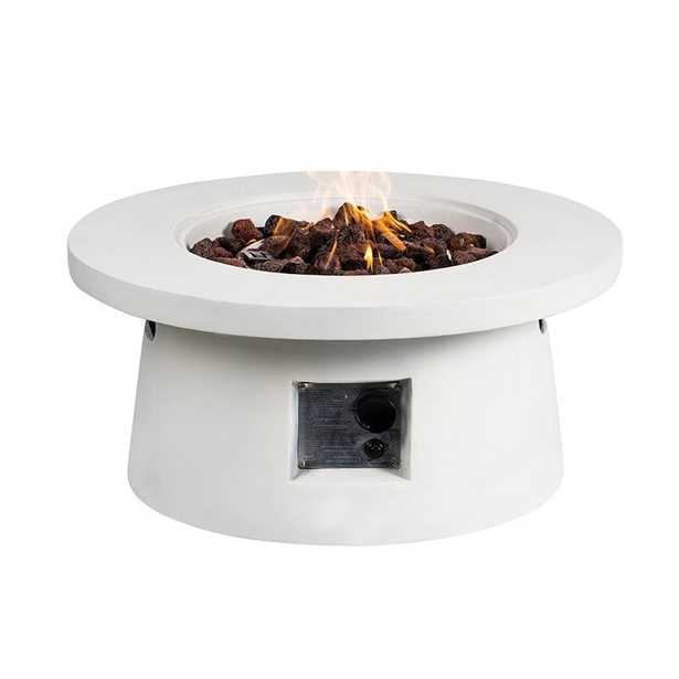 Adela Concrete Propane Fire Pit - Wayfair