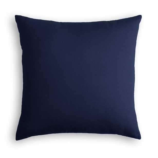 "Classic Velvet Pillow, Navy, 18"" x 18"" - Havenly Essentials"