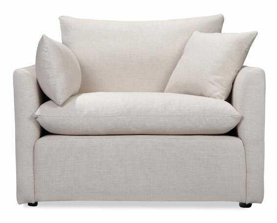 Cameron Armchair / White Linen - AllModern