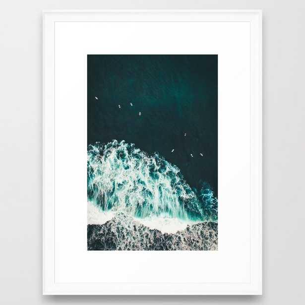 WAVES - OCEAN - SEA - WATER - COAST - PHOTOGRAPHY Framed Art Print - Society6