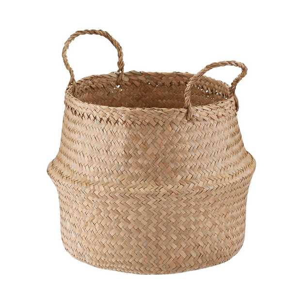 Small Seagrass Belly Basket - containerstore.com