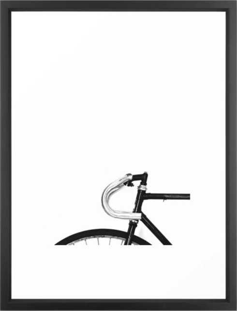 Bicycle Framed Art Print - Vector Black - Medium 20 x 26 - Society6
