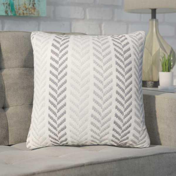 Galilea Chevron 100% Cotton Throw Pillow - Wayfair