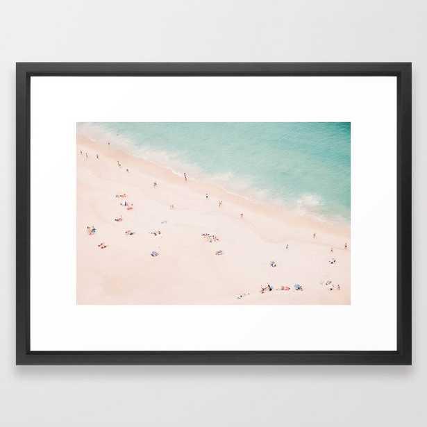 "Beach Summer Bliss Framed Art Print - Vector Black, 20"" x 26"" - Society6"