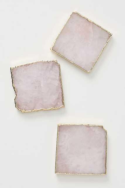 Agate Coaster-Rose Quartz - Anthropologie