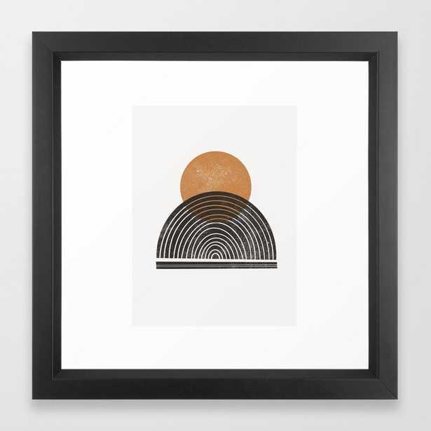 Rodi - warm, neutral, minimal, sun, sunset, ochre, earth toned, earth tone, simple art Framed Art Print - Society6