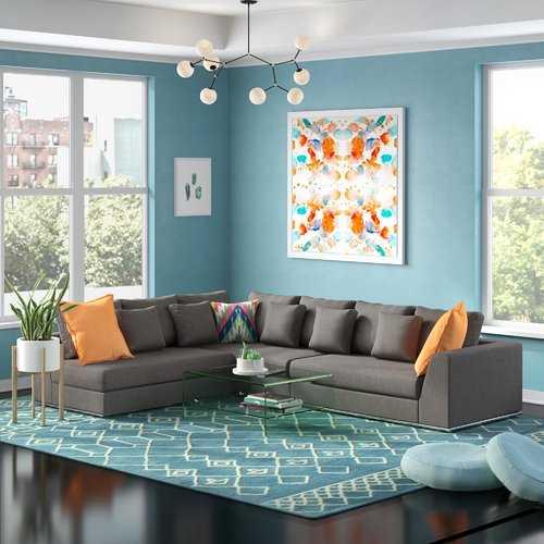 Moore Living Reversible Sectional - Gray - Wayfair