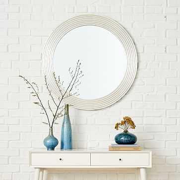 Round Bangles Mirrors - Large - Metallic Silver - West Elm