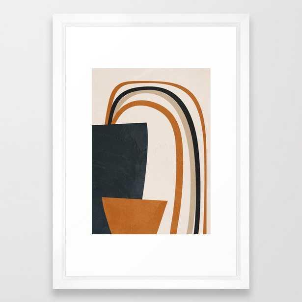 "Abstract Art Rainbow Framed Art Print - 15""x21""- Vector White frame - Society6"