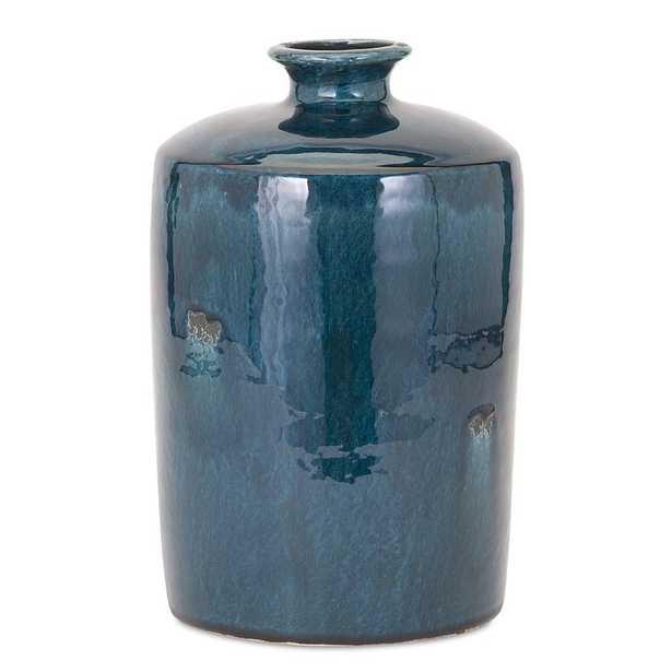 Blue Trumpet Table Vase, Medium - Wayfair