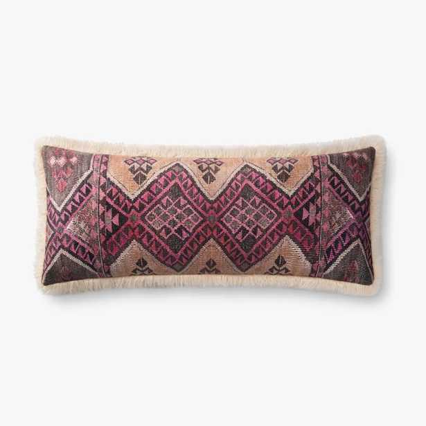 P0796 Multi / Ivory Lumbar Pillow -polly filled - Loma Essentials