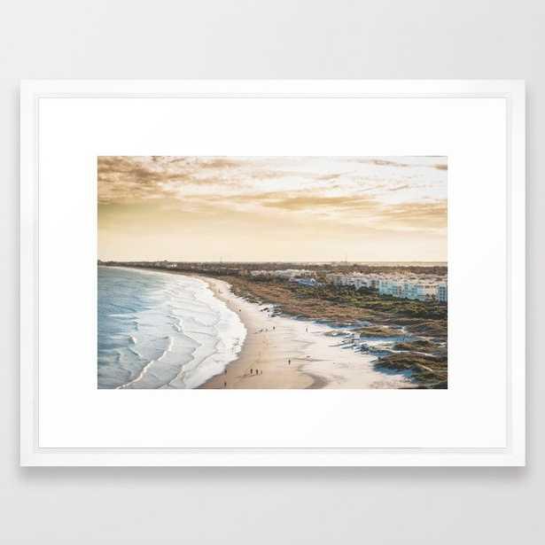 colorful, coastal, airial beach sunset photography, California boho art / print Framed Art Print - Society6