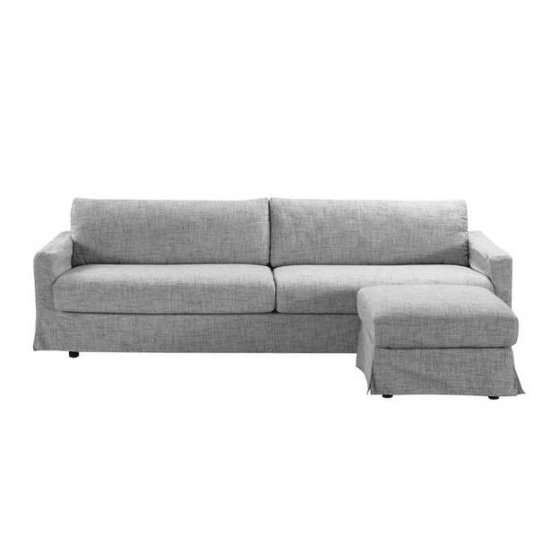 Hymes Reversible Sectional with Ottoman / Light Gray - Wayfair