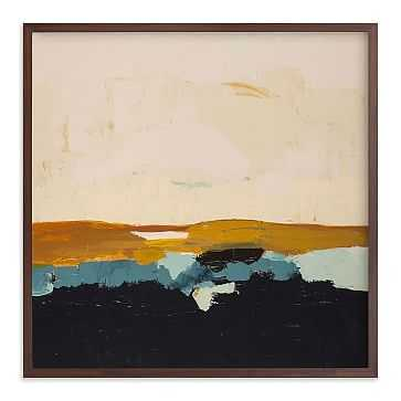 "Yellow Seascape, Full Bleed 44""x44"", Walnut Wood Frame - West Elm"