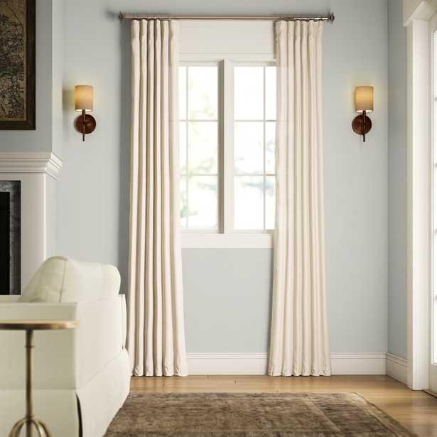 Livia Solid Room Darkening Thermal Rod Pocket Curtain Panel - Birch Lane