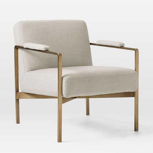 Highline Chair, Stone, Chunky Basketweave - West Elm