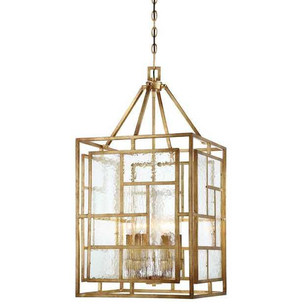 "Edgemont Park 6 - Light Lantern Rectangle Chandelier - 18""W - Wayfair"