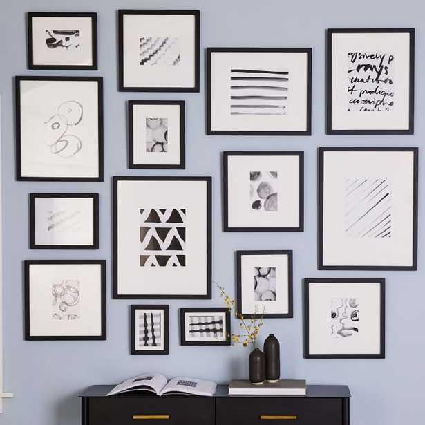 Gallery Frames, Black, Set of 15 - West Elm
