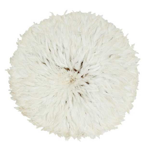 Handmade Bamboo & White Chicken Feather Juju Hat - Perigold