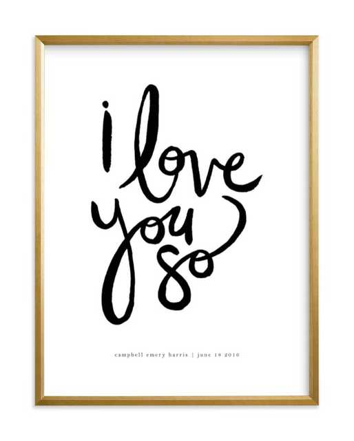 """i love you so / 18""""x24"""" / Gilded Wood Frame - Minted"""