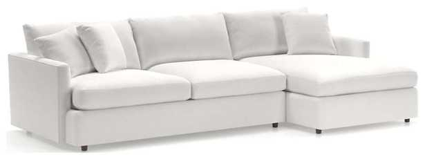 Lounge II Petite 2-Piece Sectional Sofa, View Whte - Crate and Barrel