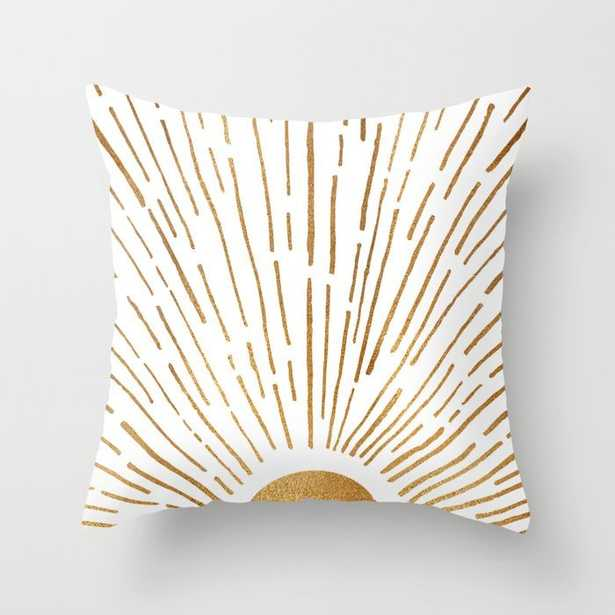 """Let The Sunshine In Throw Pillow; 16"""" x 16"""", indoor - Society6"""