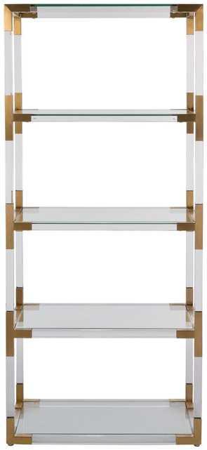 Hayley Acrylic Bookshelf - Bronze - Arlo Home - Arlo Home