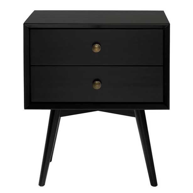 Gertz 2 - Drawer Solid Wood Nightstand - Wayfair
