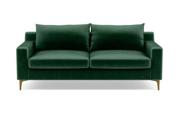 "SLOAN - Malachite - Brass Plated L Leg - 75"" - Standard Down Blend - Interior Define"