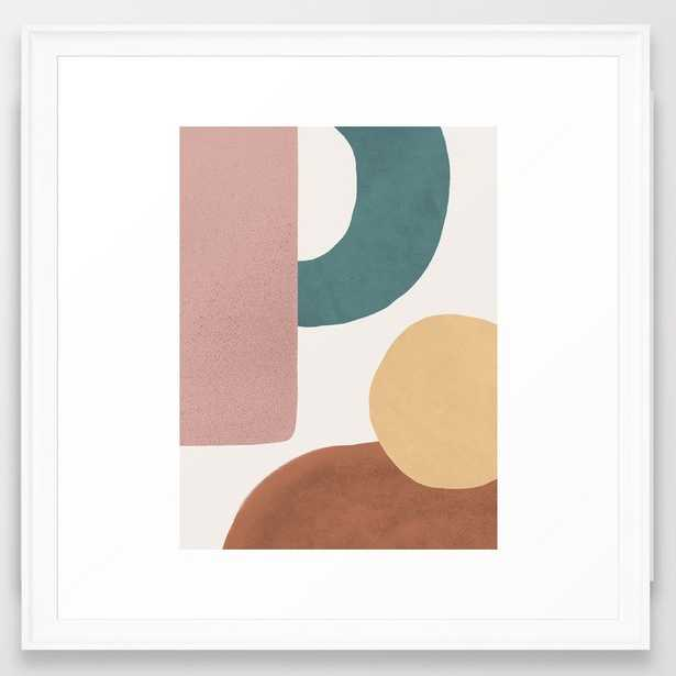 Abstract Earth 1.2 - Painted Shapes Framed Art Print - Society6