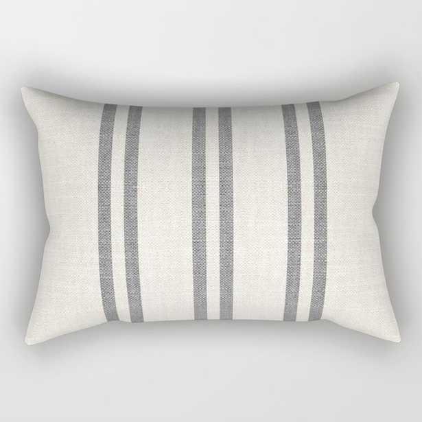 AEGEAN GREY STRIPE Rectangular Pillow - Society6