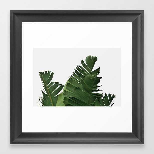 "Minimal Banana Leaves Framed Art Print - 12""x12"" - Scoop Black - Society6"