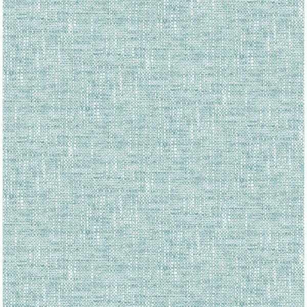 30.75 sq. ft. Aqua Poplin Texture Peel and Stick Wallpaper - Home Depot