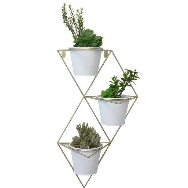 Woodworth 4-Piece Ceramic Wall Planter Set - Wayfair