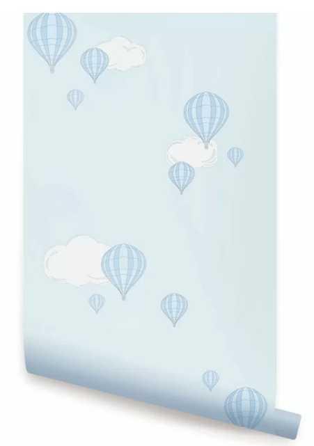 Hazen Hot Air Balloon Peel and Stick Wallpaper - Wayfair