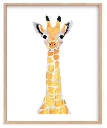 Baby Animal Giraffe Art Print 16x20 - Minted