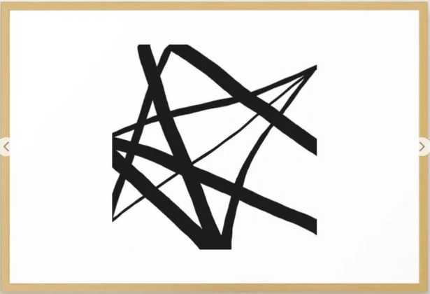 Broken Star Geometric Abstract Framed Art Print - Society6