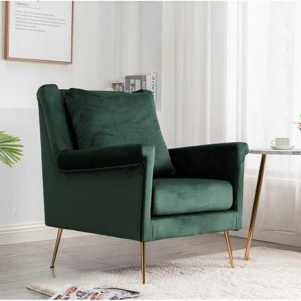 "Barbatti 30"" W Tufted Velvet Polyester Armchair - Wayfair"
