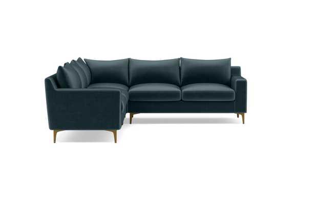 SLOAN Corner 4-Seat Sectional Sofa Sapphire - Interior Define