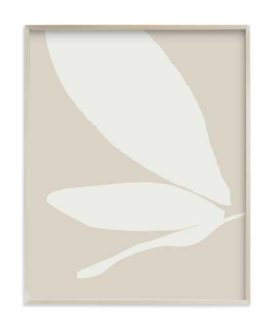 "Urban garden I - 24""x30""-Vanilla-Chanpagne Silver Frame - Minted"