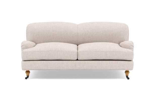 ROSE BY THE EVERYGIRL Loveseat, Wheat - Cross Weave - Interior Define