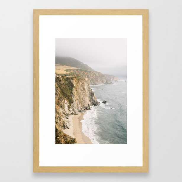 "Big Sur California Framed Art Print - Conservation Natural 15""x21"" - Society6"
