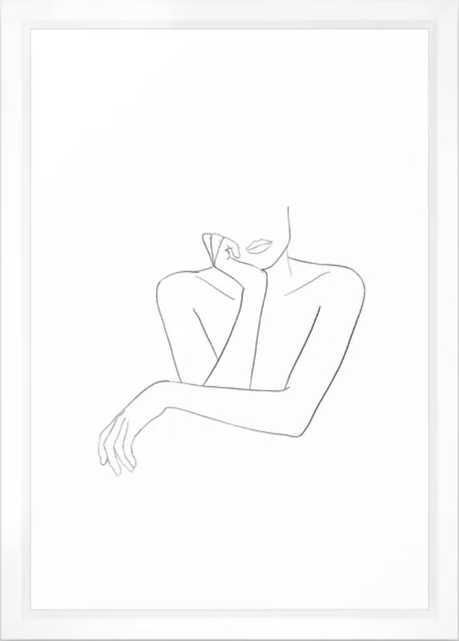 espoir Framed Art Print - Society6