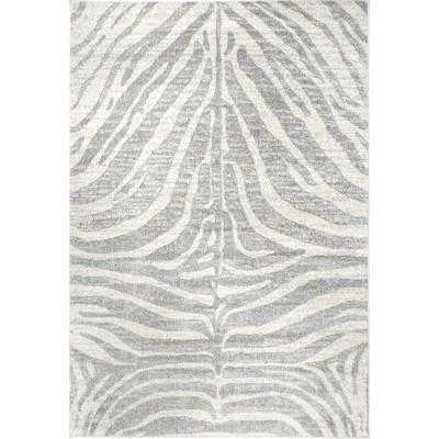 Loom 23 Royal Zebra Stripes Gray 8 ft. x 10 ft. Area Rug - Loom 23