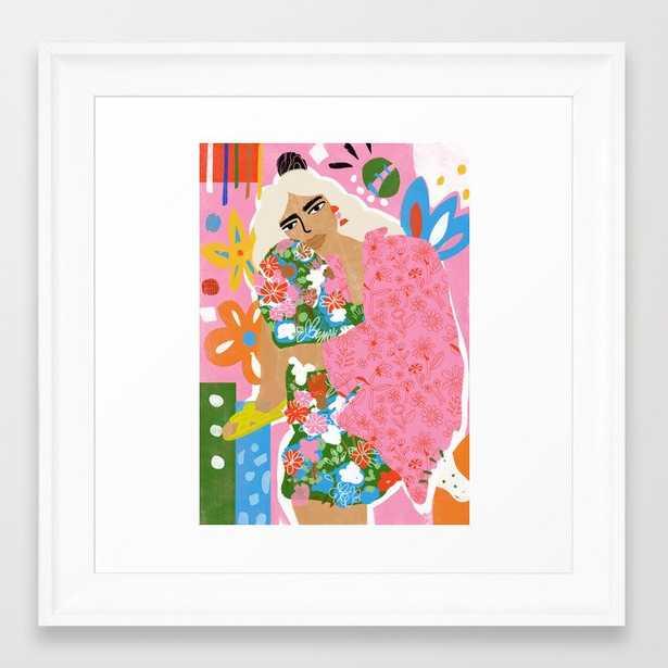 Living in Chaos Framed Art Print - Society6