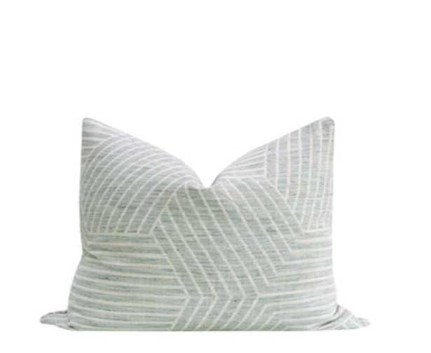 Labyrinth Linen // Spa Blue - 12 x 18 - Little Design Company