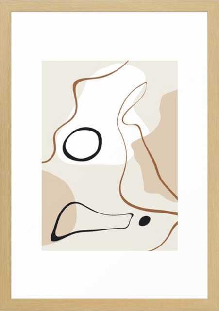 abstract minimal 15 Framed Art Print - Society6