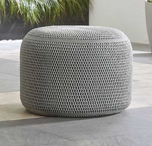 Grey Outdoor Pouf - Crate and Barrel